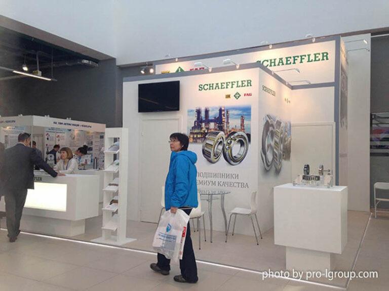Небольшой стенд Schaeffler на выставке Газ Нефть Технологии