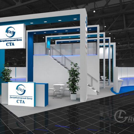 Пример двухэтажного выставочного стенда СТА