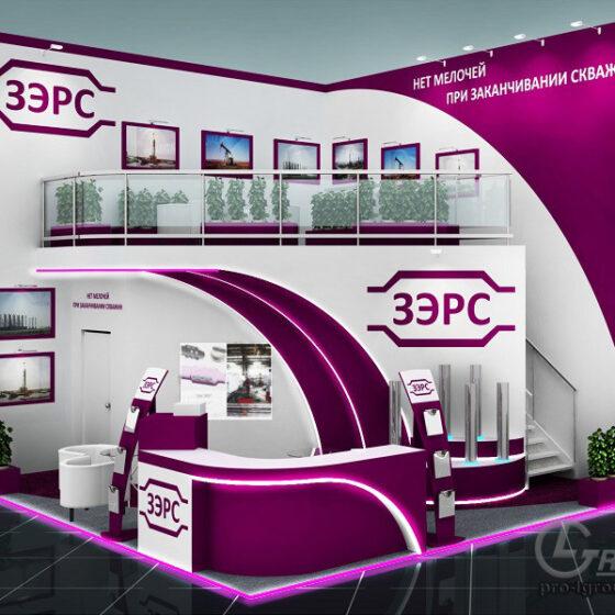 Пример двухэтажного выставочного стенда ЗЭРС