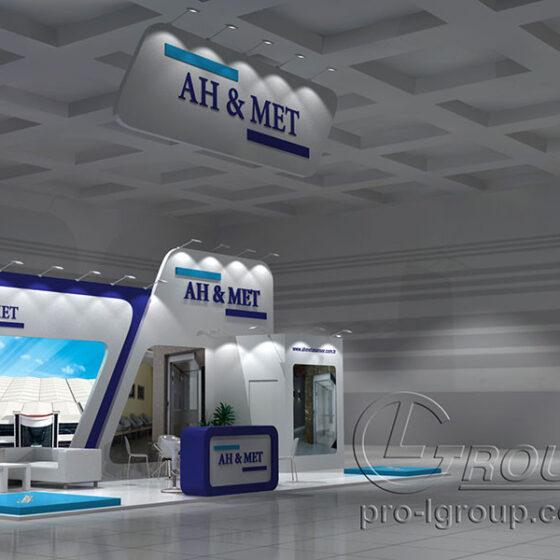 Пример эксклюзивного выставочного стенда AH&MET