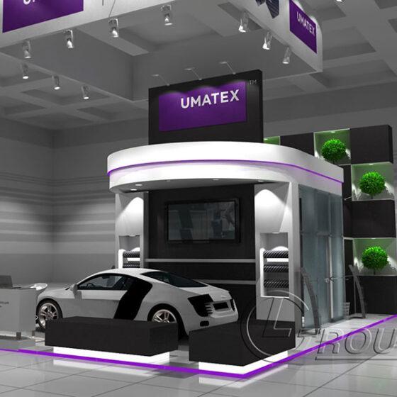 Пример эксклюзивного выставочного стенда Umatex