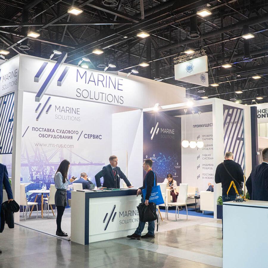 Стенд Marine Solutions на выставке Нева 2021 1
