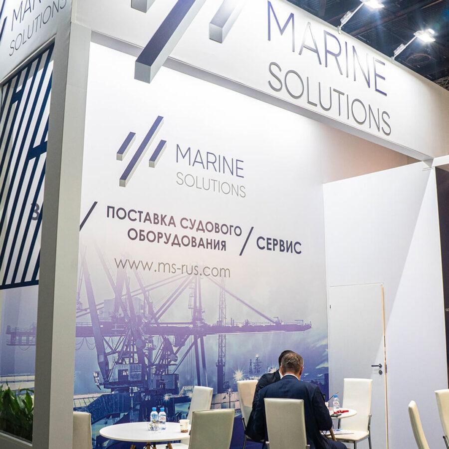 Стенд Marine Solutions на выставке Нева 2021 2